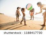 african family enjoying the... | Shutterstock . vector #1188417730