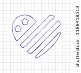 Simple Usa Flag Icon. Heart...