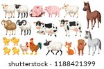 set of farm animals illustration | Shutterstock .eps vector #1188421399