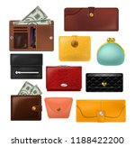 wallet vector leather purse and ... | Shutterstock .eps vector #1188422200