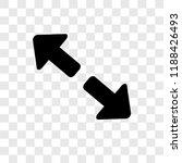 diagonal arrows vector icon...
