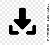 download arrow with line vector ...