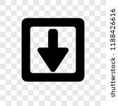 down arrow vector icon isolated ...
