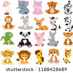 cartoon animals collection set | Shutterstock . vector #1188428689