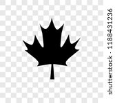 maple leaf vector icon isolated ... | Shutterstock .eps vector #1188431236
