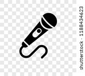 microphone vector icon isolated ...   Shutterstock .eps vector #1188434623