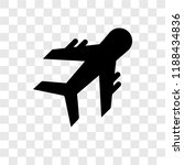 plane vector icon isolated on... | Shutterstock .eps vector #1188434836