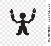 acrobat man vector icon...   Shutterstock .eps vector #1188437233