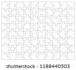 puzzle jigsaw template | Shutterstock .eps vector #1188440503