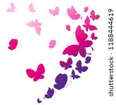 beautiful pink butterflies ... | Shutterstock .eps vector #1188444619