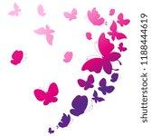 beautiful pink butterflies ... | Shutterstock .eps vector #1188444619