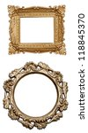 set a carved frame isolated on... | Shutterstock . vector #118845370