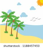 landscape beautiful beach with...   Shutterstock .eps vector #1188457453