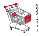 empty shopping cart on white... | Shutterstock . vector #118846060