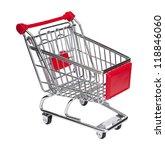 empty shopping cart on white... | Shutterstock . vector #118846060