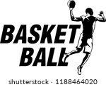 modern basketball logo in black ... | Shutterstock .eps vector #1188464020