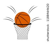 isolated basketball ball on a... | Shutterstock .eps vector #1188464620