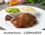 grilled chicken drumstick steak | Shutterstock . vector #1188464839