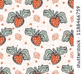 50s style strawberries sketchy... | Shutterstock .eps vector #1188466759