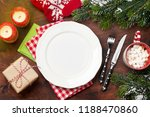 christmas table setting with... | Shutterstock . vector #1188470860