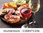 rose and white wine with... | Shutterstock . vector #1188471106