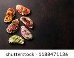 brushetta or traditional... | Shutterstock . vector #1188471136