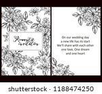 romantic wedding invitation... | Shutterstock . vector #1188474250