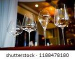 empty glasses wine in... | Shutterstock . vector #1188478180