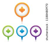 set of ghost marker icons | Shutterstock .eps vector #1188480970