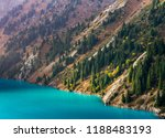 big almaty lake is a highland... | Shutterstock . vector #1188483193