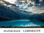 big almaty lake is a highland... | Shutterstock . vector #1188483199