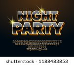vector luxury sign night party. ... | Shutterstock .eps vector #1188483853