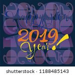 inscription of the happy new... | Shutterstock .eps vector #1188485143