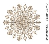 round floral mandala. vector... | Shutterstock .eps vector #1188488740