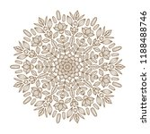 round floral mandala. vector... | Shutterstock .eps vector #1188488746