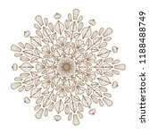round floral mandala. vector... | Shutterstock .eps vector #1188488749