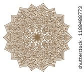 round graphic mandala. vector... | Shutterstock .eps vector #1188488773