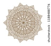 round graphic mandala. vector... | Shutterstock .eps vector #1188488776