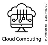 cloud services icon showing...   Shutterstock .eps vector #1188490780