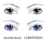 detailed male eyes with...   Shutterstock .eps vector #1188492820