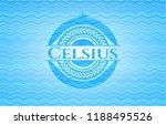 celsius water style emblem. | Shutterstock .eps vector #1188495526