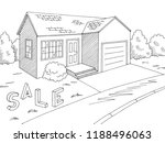 house for sale exterior graphic ... | Shutterstock .eps vector #1188496063