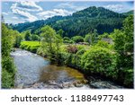 landscape with the river and... | Shutterstock . vector #1188497743