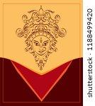 durga goddess of power  divine... | Shutterstock .eps vector #1188499420