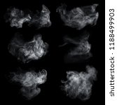 Fog Smoke Set Isolated Black - Fine Art prints