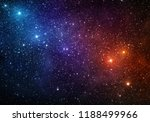 universe filled with stars ... | Shutterstock . vector #1188499966