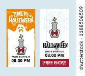 happy halloween invitation... | Shutterstock .eps vector #1188506509