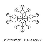 blockchain icon like thin line... | Shutterstock .eps vector #1188512029