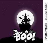 happy halloween scary night... | Shutterstock .eps vector #1188515830