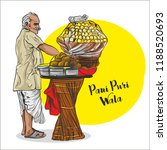indian street food. pani puri ... | Shutterstock .eps vector #1188520693